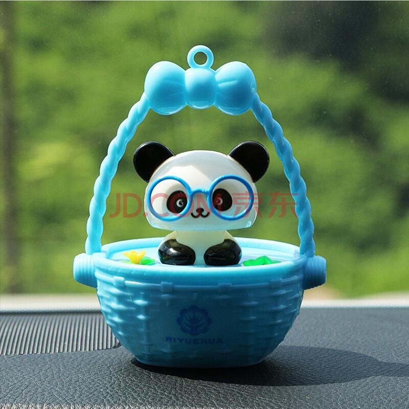 深普达汽车太阳能摇头熊猫摆件大白香水座hello kitty可爱卡通kt猫
